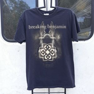 Vintage Breaking Benjamin rock band t size small